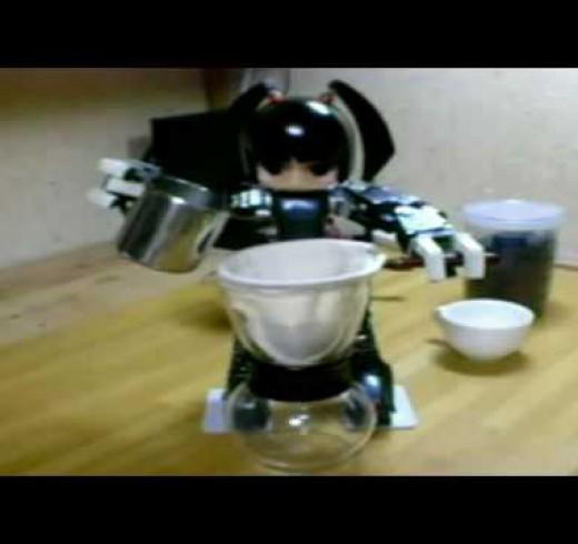 А эта девушка уже умеет готовить кофе