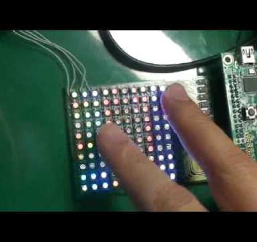 Интерактивный LED дисплей