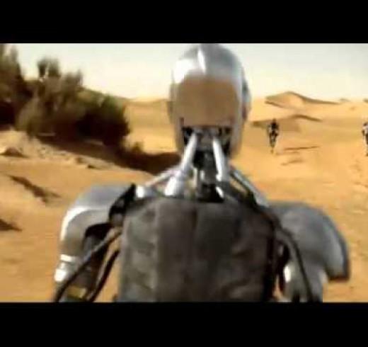 Роботы в рекламе масла TOTAL