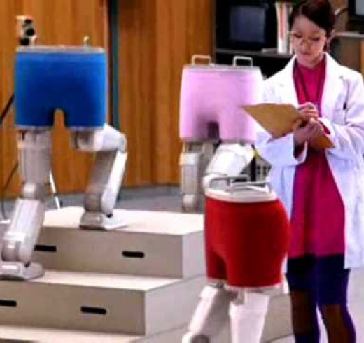 Роботы в рекламе нижнего белья
